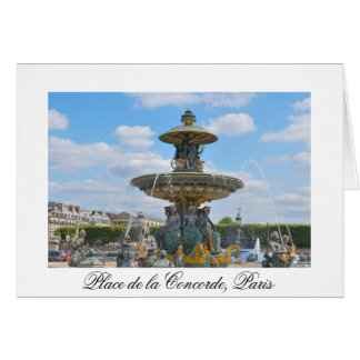 Place de la Concorde, Paris Greeting Card