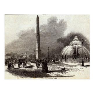 Place de la Concorde, Paris Postcard