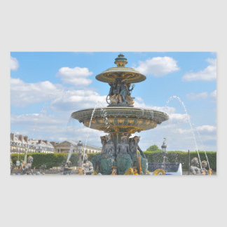 Place de la Concorde, Paris Rectangular Sticker