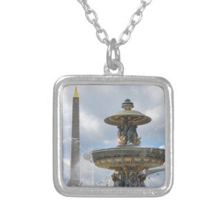 Place de la Concorde, Paris Silver Plated Necklace