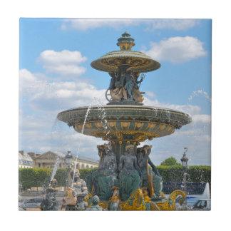 Place de la Concorde, Paris Small Square Tile