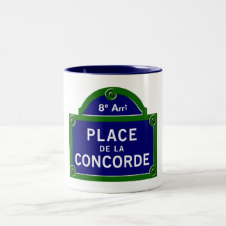 Place de la Concorde, Paris Street Sign Mug
