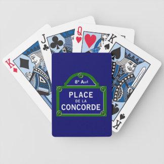 Place de la Concorde, Paris Street Sign Playing Cards