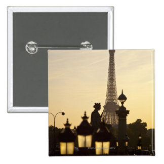 Place de la Concorde the city s largest square Pinback Button