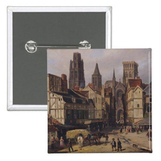 Place de la Haute-Vieille-Tour, Rouen, 1824 Buttons