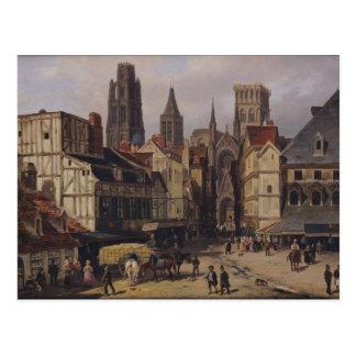 Place de la Haute-Vieille-Tour, Rouen, 1824 Postcard