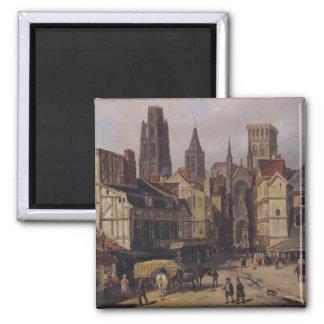 Place de la Haute-Vieille-Tour, Rouen, 1824 Square Magnet