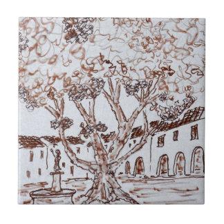 Place de la Liberte, Saint-Guilhem-le-Desert Ceramic Tile