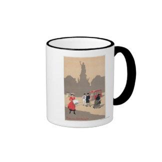 Place de la Republique Art Deco Scene Coffee Mugs