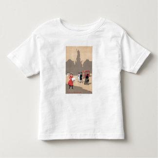Place de la Republique Art Deco Scene Tee Shirts