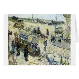 Place de la Republique, Rouen (with Tramway) Greeting Card