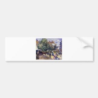 Place de la Trinite by Pierre-Auguste Renoir Bumper Sticker
