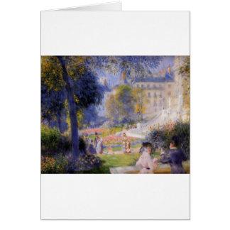 Place de la Trinite by Pierre-Auguste Renoir Greeting Card