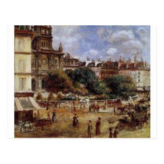 Place de la Trinite by Pierre-Auguste Renoir Postcard
