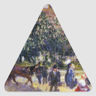 Place de la Trinite by Pierre-Auguste Renoir Triangle Sticker