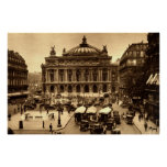 Place de l'Opera, Paris France c1925 Vintage