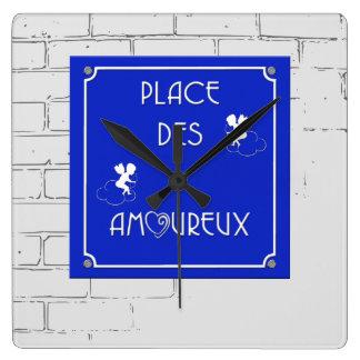 Place des Amoureux Square Wall Clock