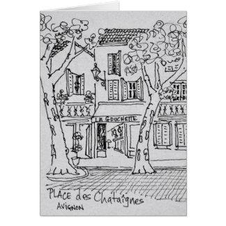 Place des Chataignes | Avignon, France Card