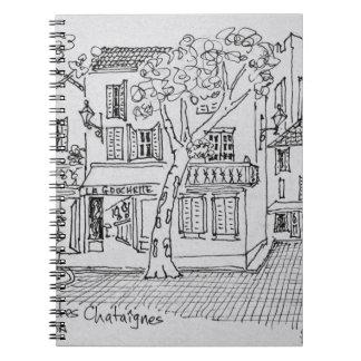 Place des Chataignes | Avignon, France Notebook