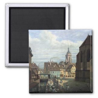 Place des Dominicains, Colmar, 1876 Magnet