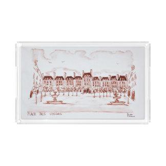 Place des Vosges | Marais, Paris Acrylic Tray