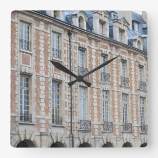 place des vosges Paris Square Wall Clock