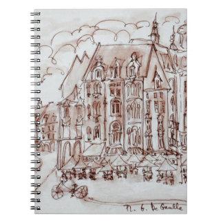 Place du General de Gaulle   Old Town, Lille Notebook