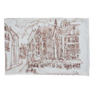 Place du General de Gaulle | Old Town, Lille Pillowcase