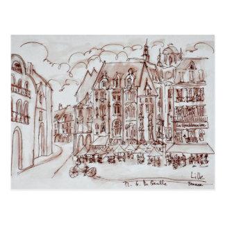 Place du General de Gaulle | Old Town, Lille Postcard
