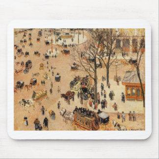 Place du Theatre Francais by Camille Pissarro Mouse Pad