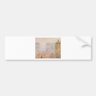 Place du Theatre Francais, Foggy Weather by Camill Bumper Sticker