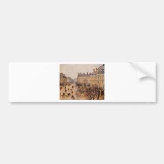 Place du Theatre Francais Rain Effect by Camille Bumper Sticker