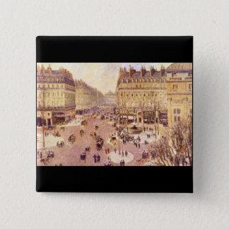Place du Theatre Francais, Soleil by Pissaro 15 Cm Square Badge