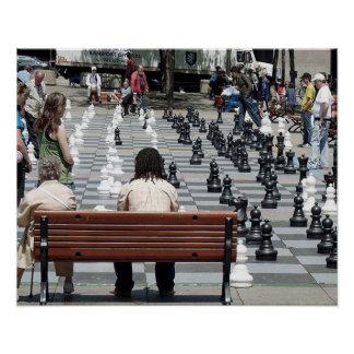 Place Émilie-Gamelin in Montreal,Chess in the Park Poster