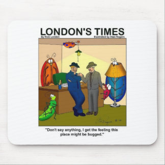 Place Is Bugged Funny Police Gifts & Tees Mouse Pad