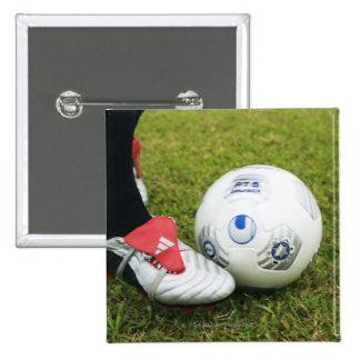 Place kick 15 cm square badge