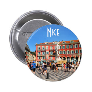 Place Massena in Nice, France 6 Cm Round Badge