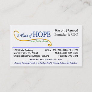 Ceo business cards zazzle au place of hope the ceo business card colourmoves