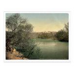 Place of the baptism, River Jordan, Holy Land rare Postcards