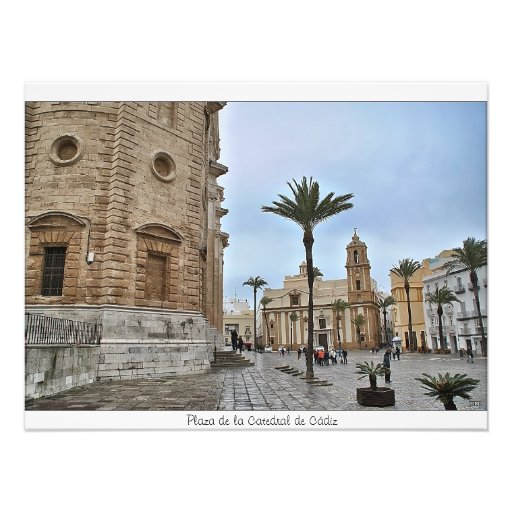 Place of the Cathedral of Cadiz Photo Art