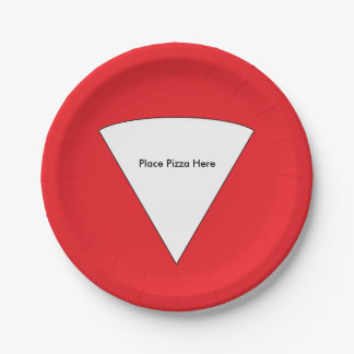 """""""Place Pizza Here"""" Paper Plates"""
