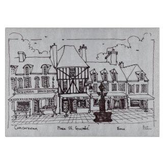 Place Saint-Guenole, Concarneau | Brittany Cutting Board