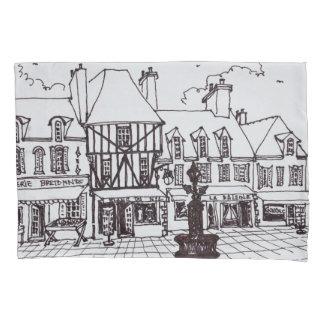 Place Saint-Guenole, Concarneau | Brittany Pillowcase