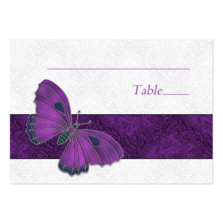 Place setting card Butterfly Brocade Purple Business Card Templates
