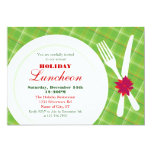 Place Setting Holiday Dinner Invitation