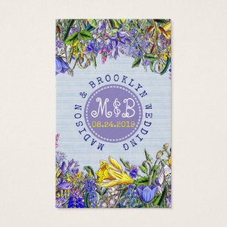 Place Setting Wedding Reception Wildflowers Business Card