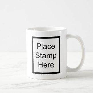 Place Stamp Here Basic White Mug