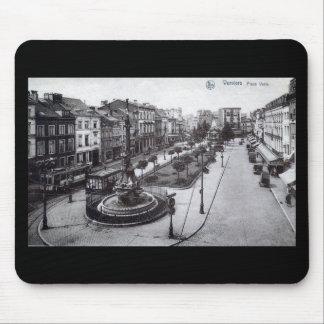 Place Verte Verviers Belgium 1920s Vintage Mouse Pads