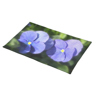 Placemat - Blue Pansy Sisters