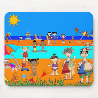 Placemat Kid's Day At The Beach and Mousepad Mousepad